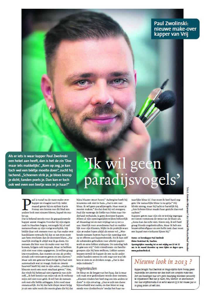 Make-over kapper Paul Zwolinski
